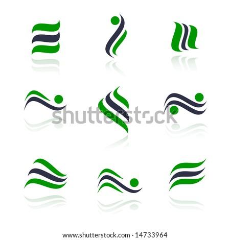 Set of logos. Vector-Illustration - stock vector