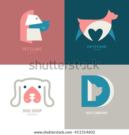stock-vector-set-of-logotypes-with-dogs-dog-logo-collection-logotype-for-vet-clinic-pet-shop-dog-training-or-411314602.jpg