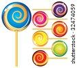 Set of lollypops - stock vector