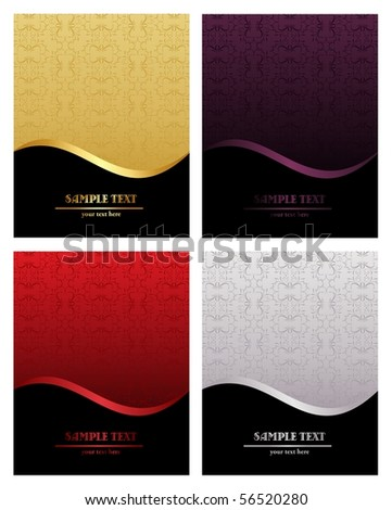 Set of luxury backgrounds for design - vector - stock vector