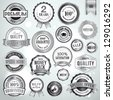 Set of luxury silver badges and stickers for sale and products promotion - stock vector