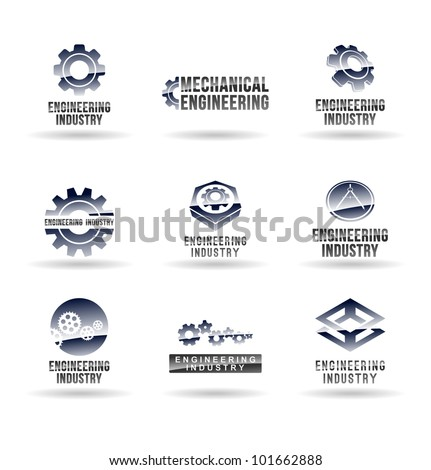 Set Mechanical Engineering Icons Set 1 Stock Photo Photo Vector