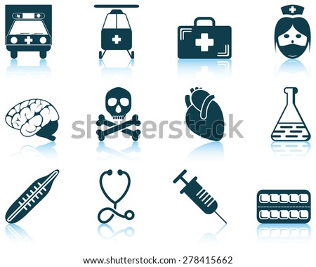 Set of medical icon. EPS 10 vector illustration without transparency. - stock vector