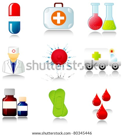 Set of medical icons. Vector illustration.