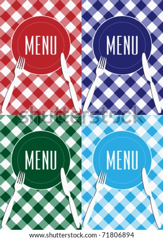 Set of Menu Card Covers - stock vector
