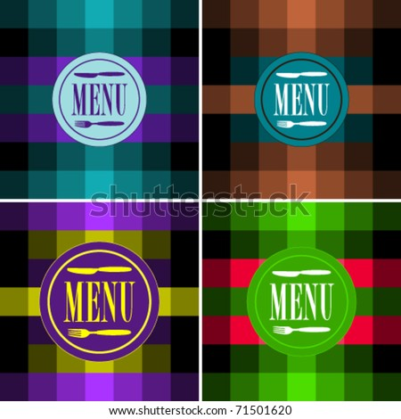 Set of Menu Card Designs - stock vector