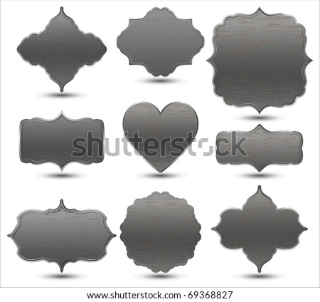 set of metal frames - stock vector