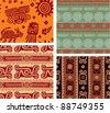 Set of Mexican Seamless Tiles - stock vector