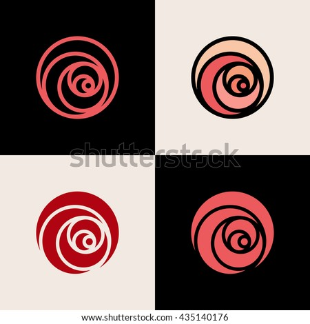 rose logo stock images royalty free images vectors shutterstock. Black Bedroom Furniture Sets. Home Design Ideas