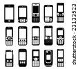 set of mobile phone vector - stock vector