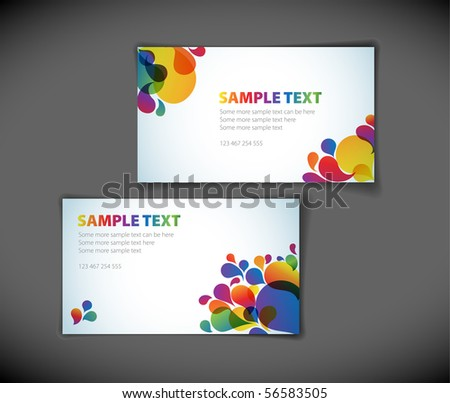 Set of modern business card templates - stock vector