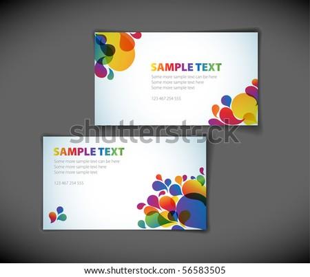 Set of modern business card templates - stock vector