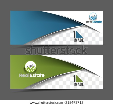 Set Of Modern Business Design Banner Template  - stock vector
