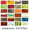 set of modern, colorful business cards - stock vector