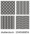 Set of 4 monochrome elegant seamless patterns - stock vector
