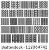Set of 26 monochrome elegant seamless patterns.Vector ornaments. May be used as background, backdrop. - stock vector