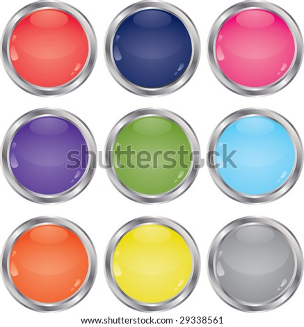 Set of multi-coloured buttons