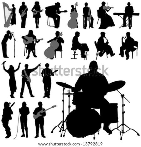 set of musician vector - stock vector