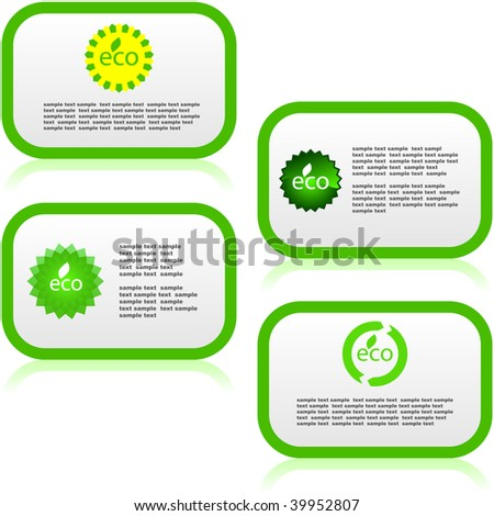 Set of natural banners. Vector set. - stock vector