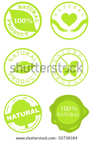 Set of natural product stamps. Vector illustration for Your design - stock vector