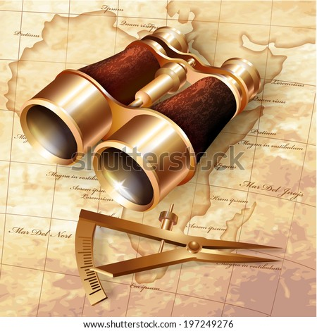 Set of navigation tools. Vector illustration  - stock vector