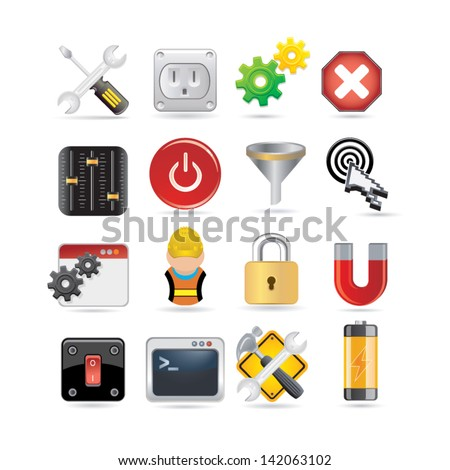 set of network icons - stock vector