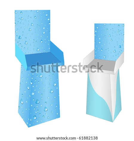set of new water drops display. vector illustration - stock vector