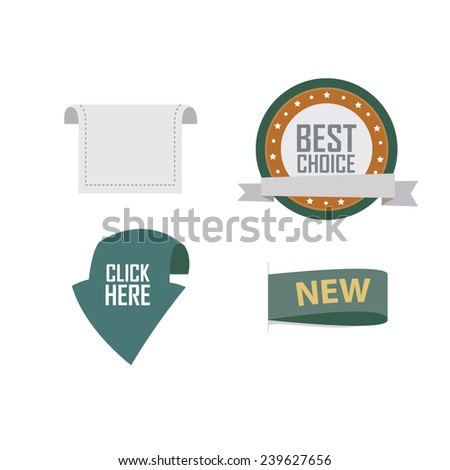 set of news labels - stock vector