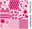 Set of nine seamless pattern - stock vector