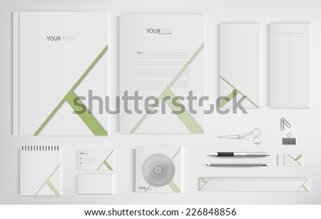 Set of office documents for business, vector Illustration. - stock vector