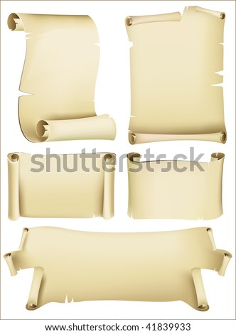 set of old paper vector - stock vector