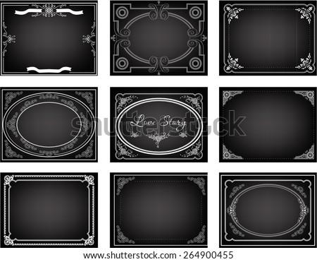 Set Old Silent Movie Title Frames Stock Vector 264900455 ...