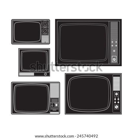 Set of old TVs