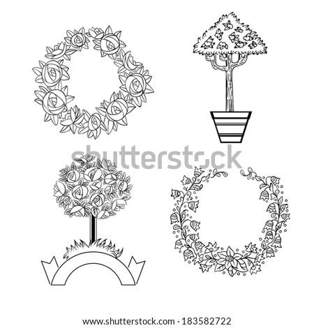 Set of ornament for design - stock vector