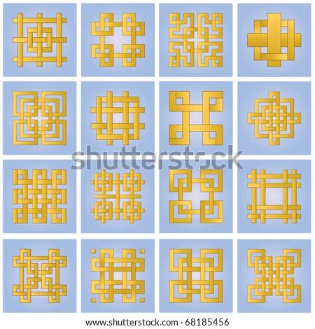 Set of ornamental elements for design (eps8) - stock vector