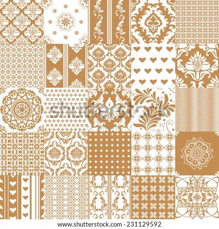 Set of ornamental seamless patterns - stock vector
