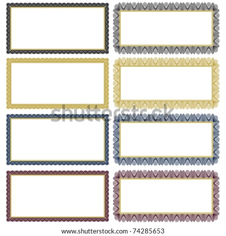 Set of ornate vector frames. Easy to edit. Perfect for gift certificates, invitations or announcements. - stock vector