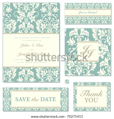 Set of ornate vector frames. Easy to edit. Perfect for invitations or announcements. - stock vector