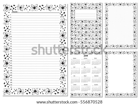 Set Pages Template Daily Planner Printable Stock Vector Hd Royalty