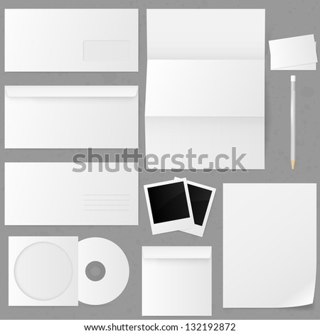 Set of paper envelopes. Vector illustration. - stock vector