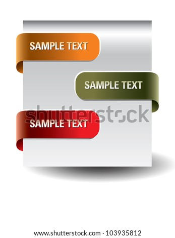 Set of paper tags. Eps10 Format. - stock vector