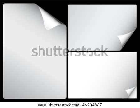 Set of papers with curl corners