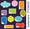 Set of pastel peel-off stickers - stock vector