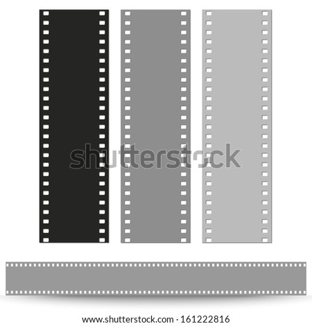set of pattern films vector background - stock vector