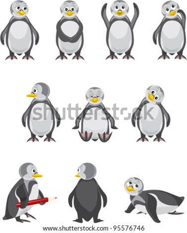 set of penguins