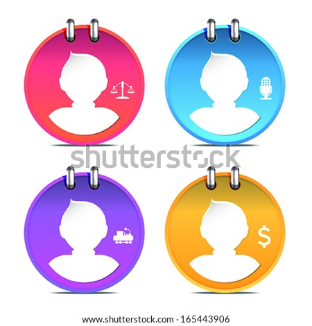 set of Person icon, vector - stock vector