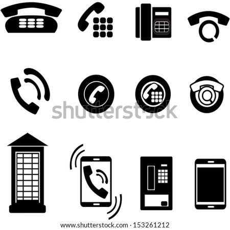 set of phone icons - stock vector