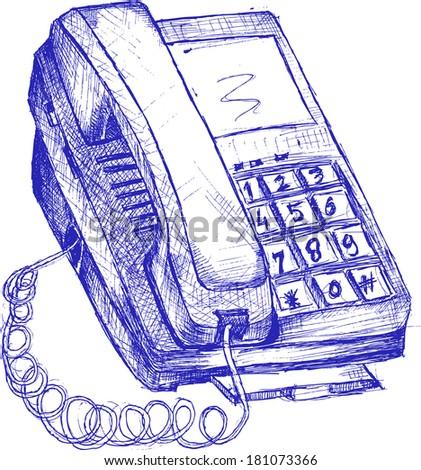 Set of phones  - stock vector