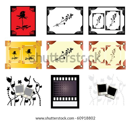 set of 9 photo blanks for your design, with space for image