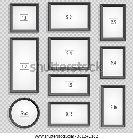 Set Photo Picture Frames On Checked Stock Vector HD (Royalty Free ...